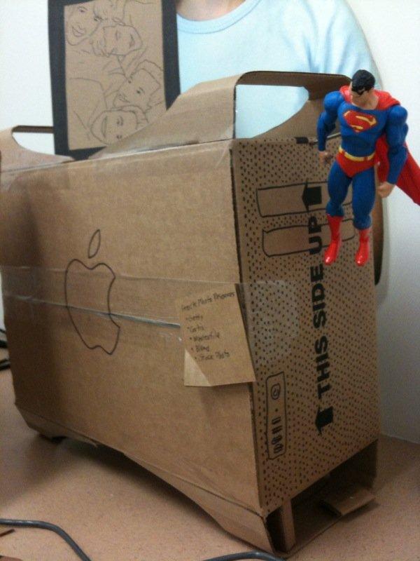 Офис из картона (14 фото)