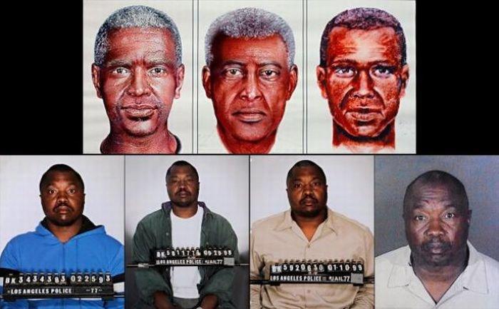 Фотороботы и реальные фотографии преступников (15 фото)