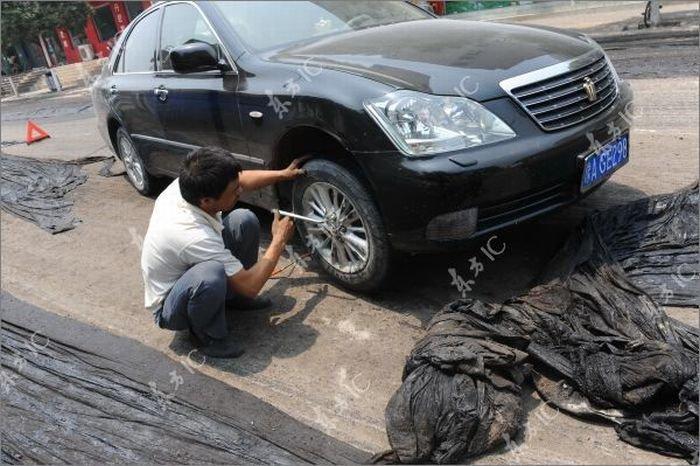 Китайский асфальт (11 фото)