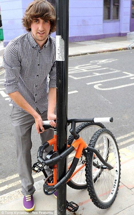Необычный складной велосипед (4 фото)