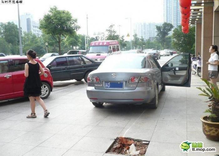 Не катайтесь по тротуару (6 фото)