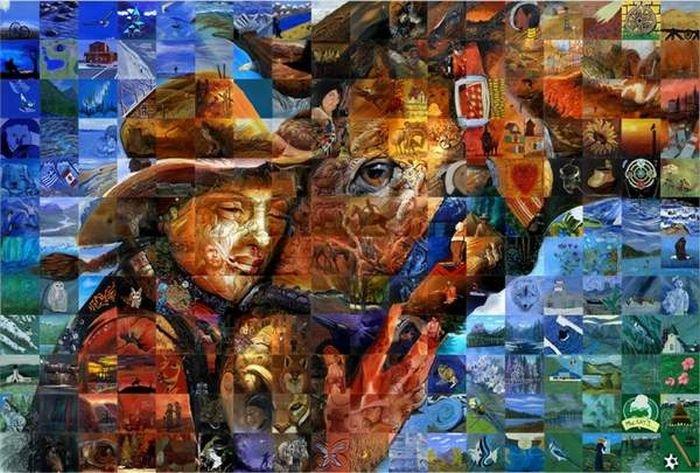 Картины из картин (9 фото)