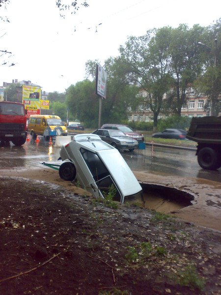 Неудачная парковка в Самаре (7 фото)