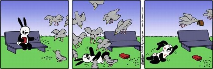 Комиксы про кролика (45 фото)