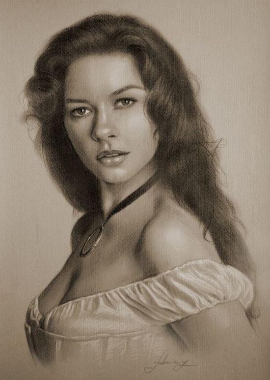 Рисунки знаменитостей карандашом (18 фото)