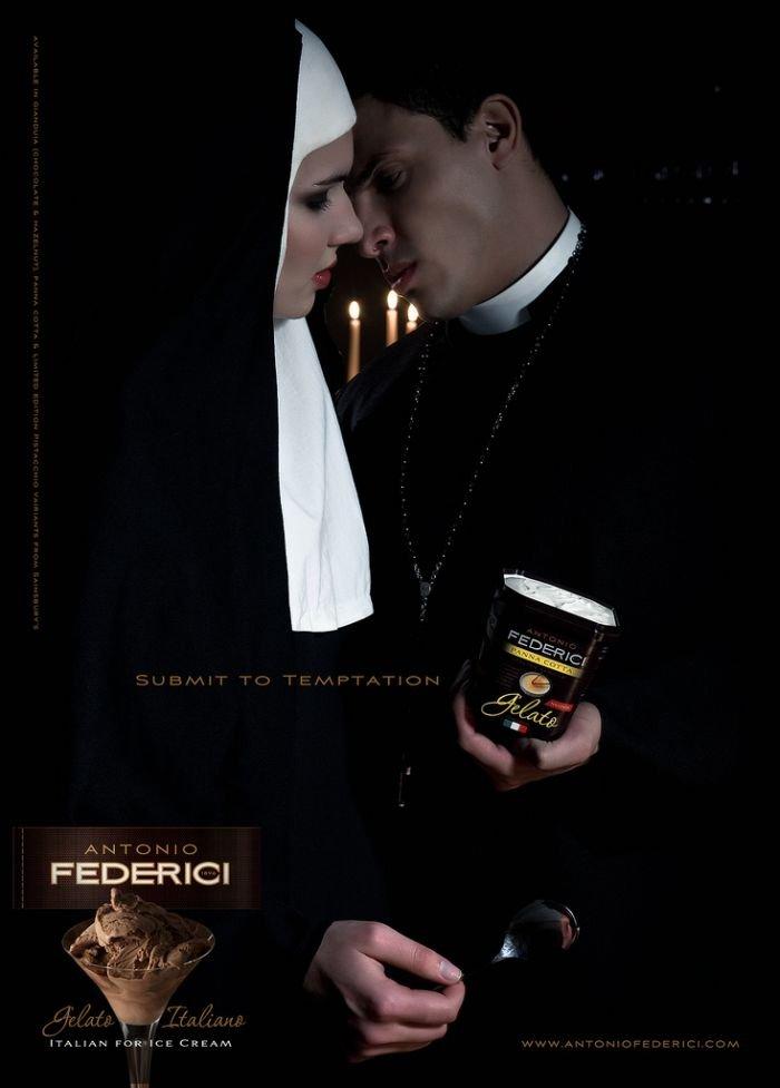 Реклама мороженого, запрещенная в Англии (4 фото)