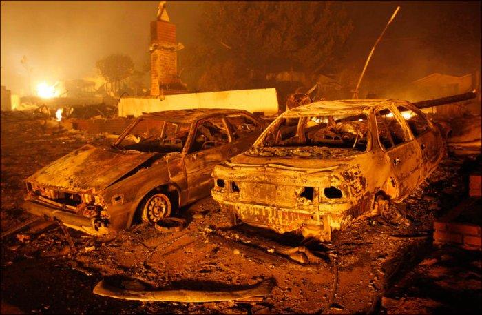Взрыв газопровода в Калифорнии (34 фото)