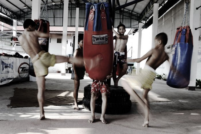 Школа Муай-Тай для мальчиков в Таиланде (20 фото)