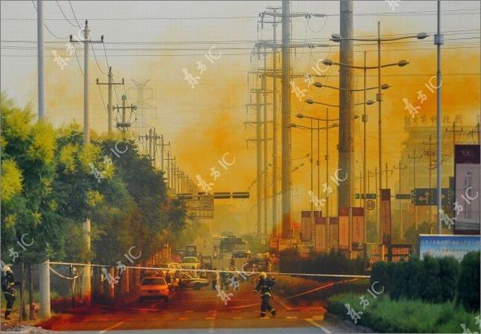 Туман из кислоты в Китае (13 фото)