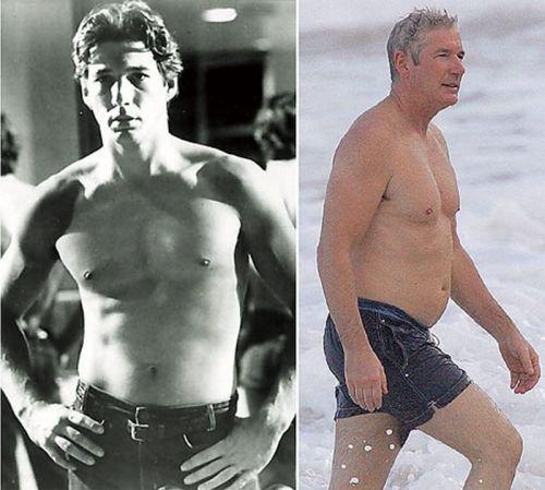 Знаменитости раньше и сейчас (12 фото)