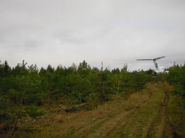 Посадка Ту-154М в тайге (14 фото + текст)