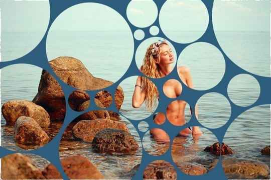 Лучшие работы с девушкой в пузырьковом эффекте (42 фото)