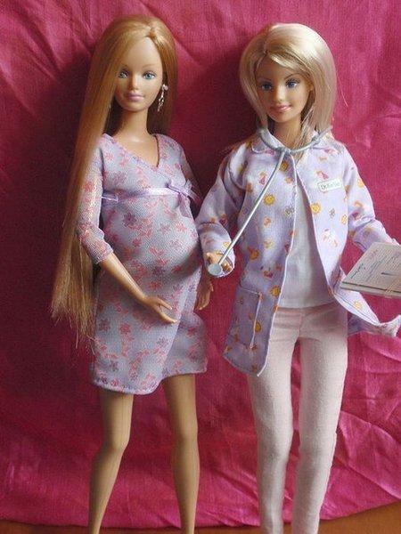 Беременная подруга куклы Барби (18 фото)