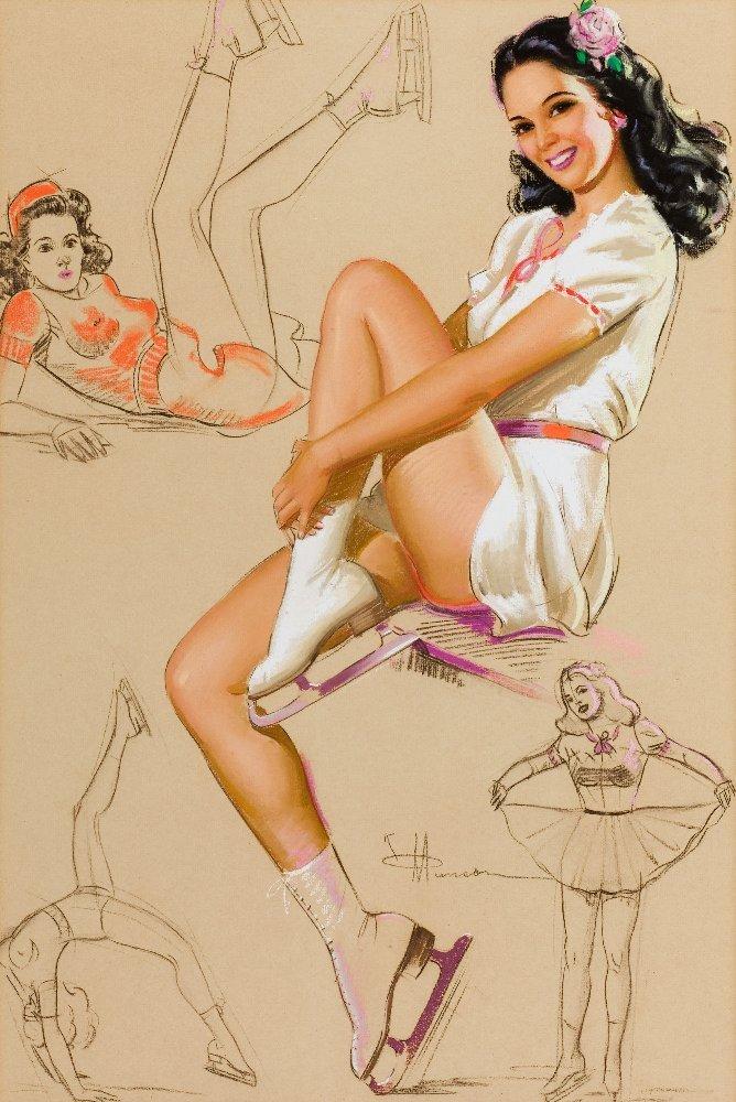 Рисунки девушек в стиле пин-ап (72 фото)