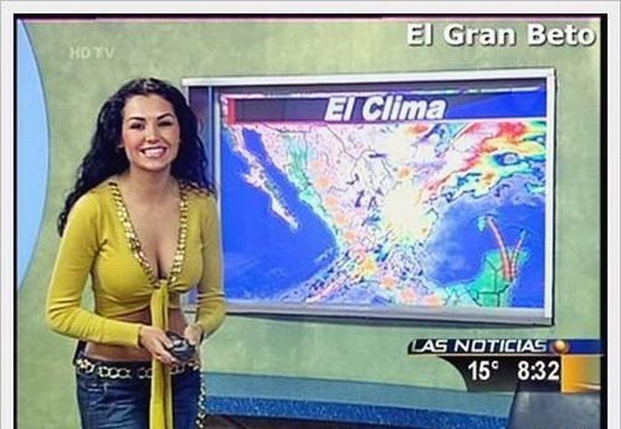 Ведущие прогноза погоды (9 фото)