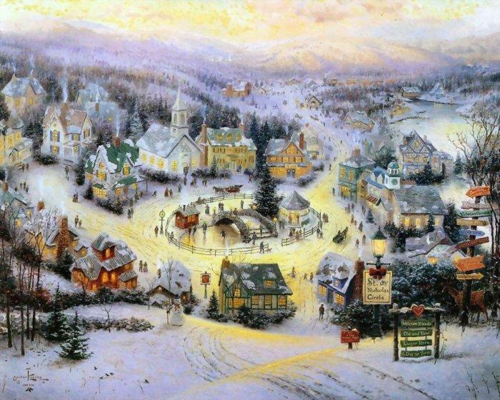 Сказочные рисунки художника Thomas Kinkade (40 фото)