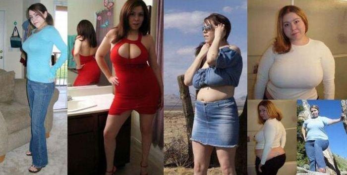 Поправившиеся девушки (17 фото)