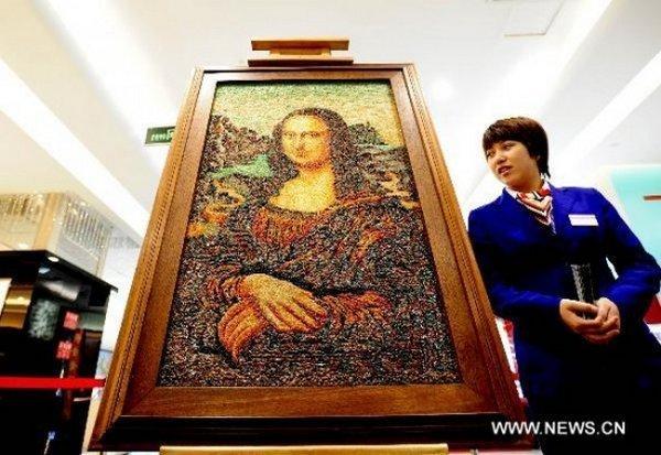 Мона Лиза из драгоценных камней (5 фото)