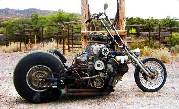 Необычные автомобили и мотоциклы (14 фото)