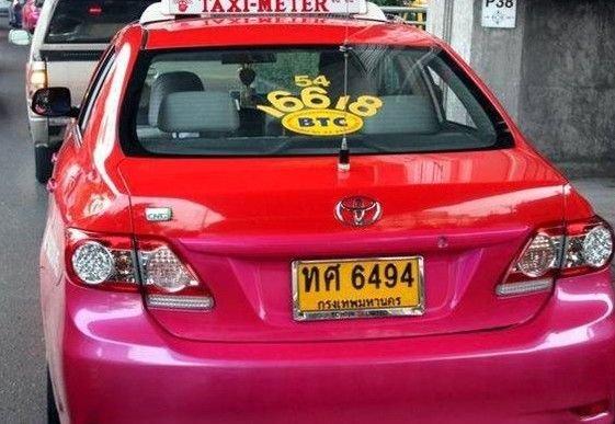 Запреты в таиландском такси (7 фото)