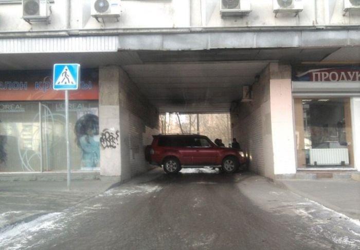 Профессиональная парковка (2 фото)
