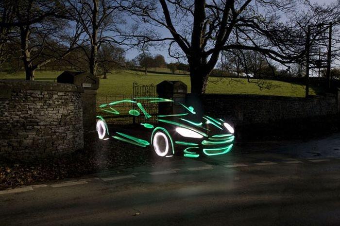 Автомобили, нарисованные светом (19 фото)