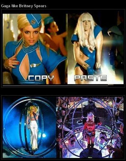 Lady Gaga копирует костюмы других звезд (15 фото)