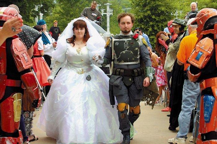 Необычные свадьбы (30 фото)