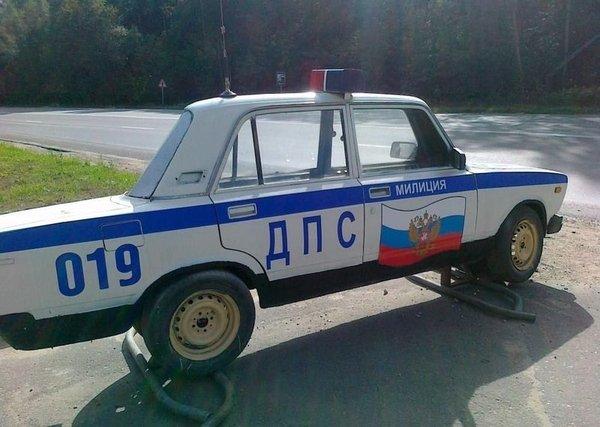 Секретный автомобиль российской полиции (4 фото)