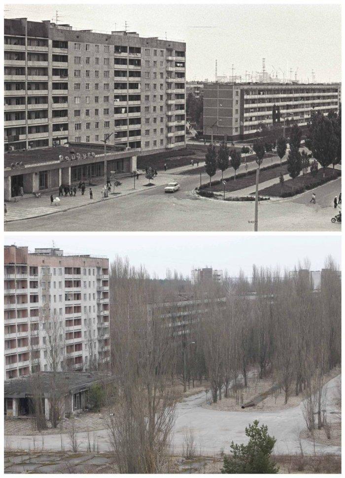 Чернобыль. 30 лет назад и сейчас (14 фото)