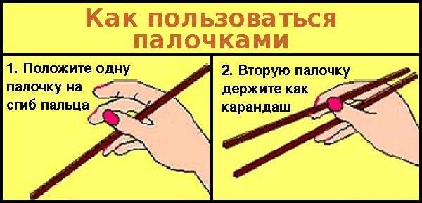Как пользоваться китайскими палочками (2 фото)