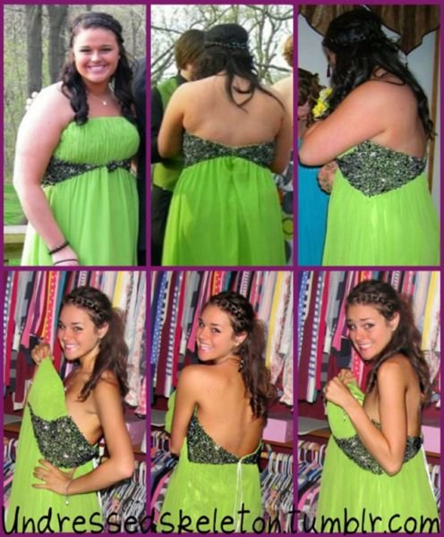 Девушка похудела в два раза (10 фото)