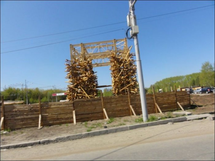 Необычная постройка в Перми (3 фото)