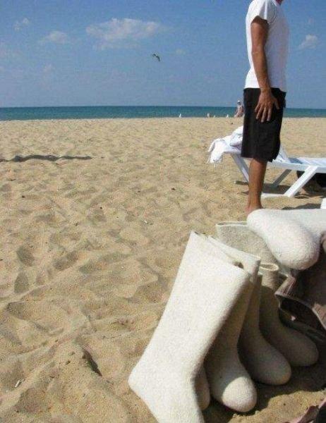 Прикольные фотографии с пляжа (25 фото)