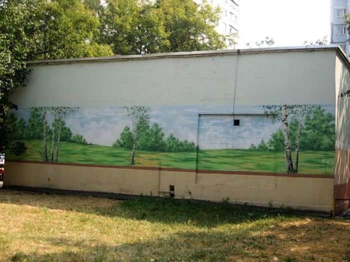 Рисунки на стенах в Тушино (75 фото)