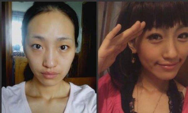 Девушки в макияже и без него (73 фото)